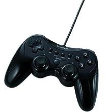 ELECOM 12ボタンUSBゲームパッド/振動機能・連射機能付/ブラック JC-U2912FBK