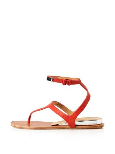 L.A.M.B. Women's Mikalah Flat Sandal (Coral)