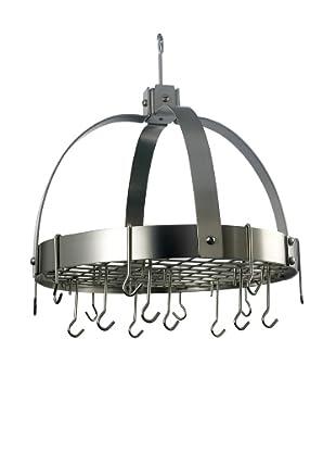 Old Dutch International 16-Hook Dome Pot Rack with Grid (Satin Nickel)