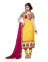 Fabdeal Women Silk Embroidered Salwar Kameez