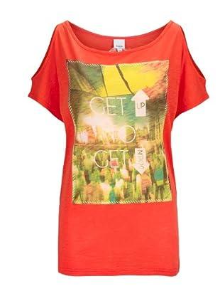 Bench T-Shirt Gathorne (fiery coral)
