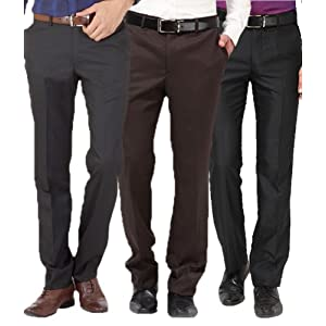 Gwalior Suitings Men Trousers Combo Of Three 503