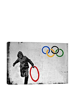 Banksy Olympics Stolen Ring Street Art Giclée On Canvas
