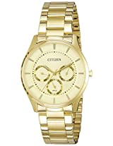 Citizen Analog Gold Dial Men's Watch - AG8352-59P