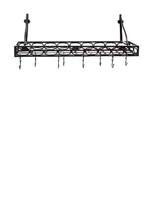 Old Dutch International 8-Hook Medium-Gauge Wall-Mount Bookshelf Pot Rack
