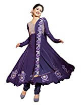 atisundar refined Purple Embroidered Anarkali- 4134_39_314