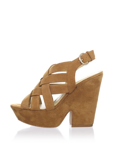 Luxury Rebel Women's Rea Wedge Sandal (Tan)