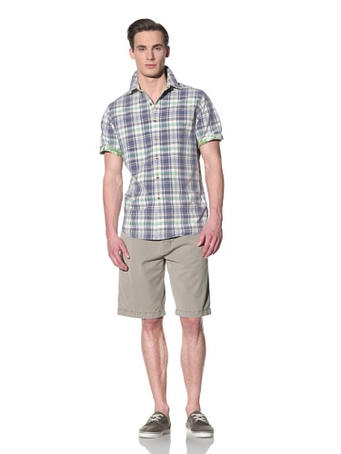 Tailor Vintage Men's Reversible Short Sleeve (Navy/Island Print)
