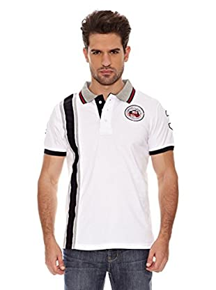 Geographical Norway Polo Manga Corta Kadford Ss Men 402 (Blanco / Marino)