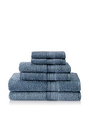 Terrisol Aertex 6-Piece Towel Set, Blue Dusk