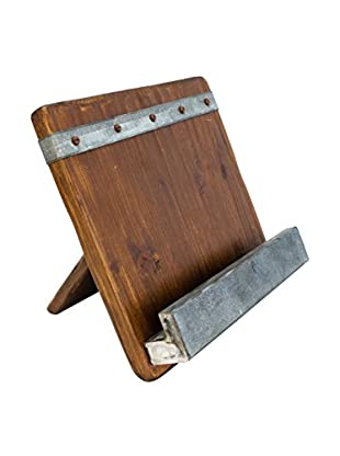 bambeco 19th Century Reclaimed Wood iPad and Cookbook Holder, Brown