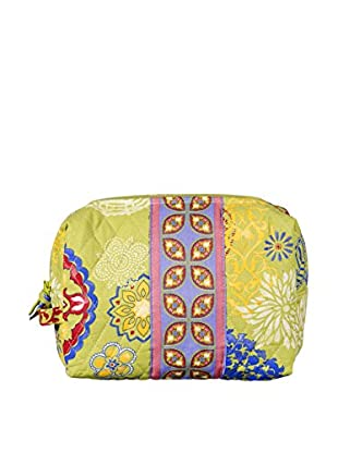 Home Essentials and Beyond Atousa Large Cosmetic Bag, Yellow/Pink