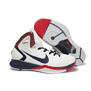 Nike Mens Hyperdunk 2010 basketball white/red/deep Sneakers