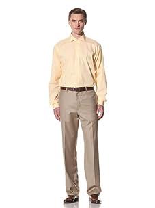 Domenico Vacca Men's Check Button-Up Shirt (Yellow)