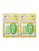 Mee Mee Finger Brush With Storage Case MM-3725, Green (Pack of 2)