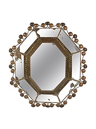 Uptown Down 1960 Metal Framed Mirrored Wall Hanging, Bronze