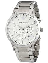 Emporio Armani Chronograph White Dial Men's Watch - AR2458