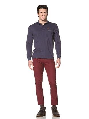 Marshall Artist Men's Long Sleeve Polo Shirt (Navy)