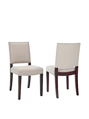 Safavieh Set of 2 James Side Chairs, Taupe