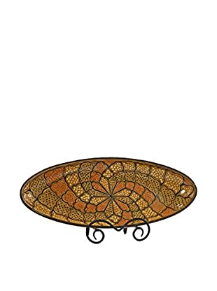 Le Souk Ceramique Honey Extra Large Oval Platter, Honey/Brown
