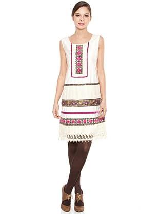Poupé Chic Vestido Pasamanería (Crudo)