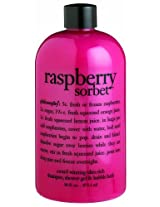Philosophy Raspberry Sorbet Shampoo/Shower Gel/Bubble Bath, 16 Ounces