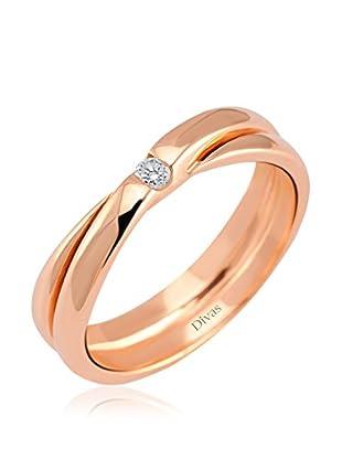 Divas Diamond Anillo 0,04 ct Diamond (Dorado / Rosa)