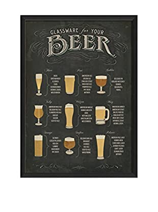 The Artwork Factory Beer Glassware Poster Framed Art