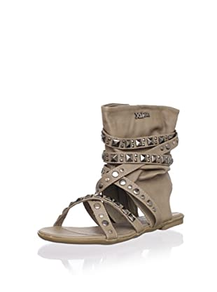 XTI Kid's Sandal with Wraparound Ankle Cuff (Taupe)