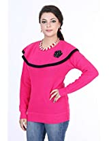 Renka Women's Knitted Winter Top (2513_pink_X Large)