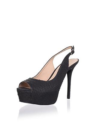 Pour La Victoire Women's Vanesa Platform Sandal (Black)