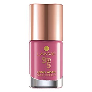 Lakme 9 to 5 Long Wear Nail Color, Candy Power, 9ml