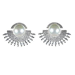 Pearl Paradise Pearl-CZ-Silver Earring.