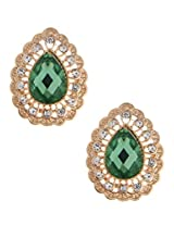 Sparkling Gold Tone Crystal and Rhinestone Stud Earrings