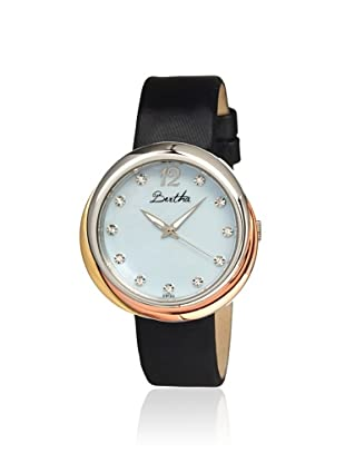 Bertha Women's BR3502 Jean Black/Powder Blue Leather Watch