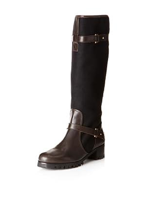 Claudia Ciuti Women's Tamara Riding Boot (Black/brown)
