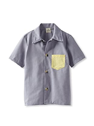 water+son Boy's Woven Shirt with Contrast Pocket