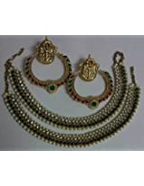 Earrings - Designer Fancy Earings with Traditional Anklets
