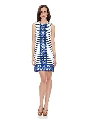 Cortefiel Vestido Rayas (Azul)