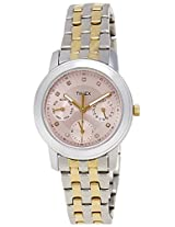 Timex E Class Analog Pink Dial Women's Watch - TW000W104