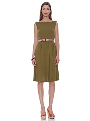 SIYU Kleid Basic Ärmellos (Khaki)