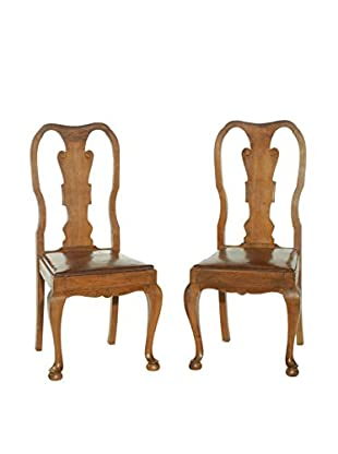 Pair of Charante Chairs, Brown/Wine