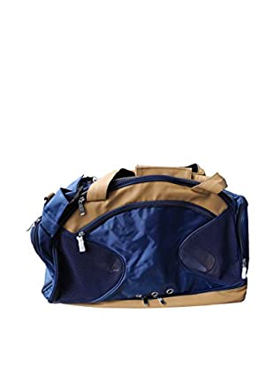 Pet Life Multi-Storage Compartment Fashion Pet Carrier Tote, Blue/Brown, Large