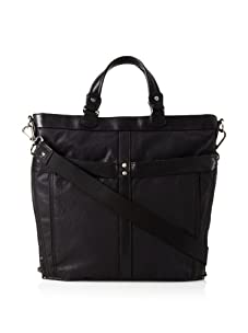 Andrew Marc Men's Bedford Mixed Material Tote (Black)