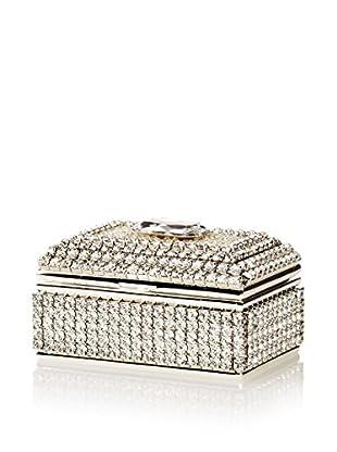 Isabella Adams Freshwater Pearl & Swarovski Crystal Ring Box, April (Crystal)