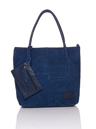 Sándalo Bolso Shopping Ante (Azul)
