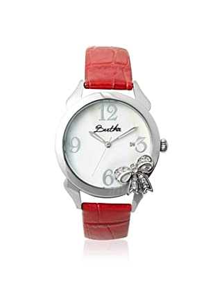 Bertha Women's BR2103 Bow Red/White Stainless Steel Watch