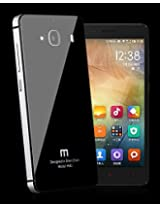 AE Tempered Glass Back Aluminium Side Bumper Cover Case for Xiaomi Redmi 2 / REDMI2 PRIME - Black Silver (FREE GLASS FLIM FLEXIBLE TEMPERED FOR REDMI 2)