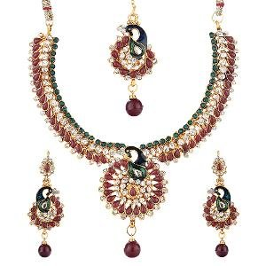 Peacock Necklace Set By Sia Jewellery