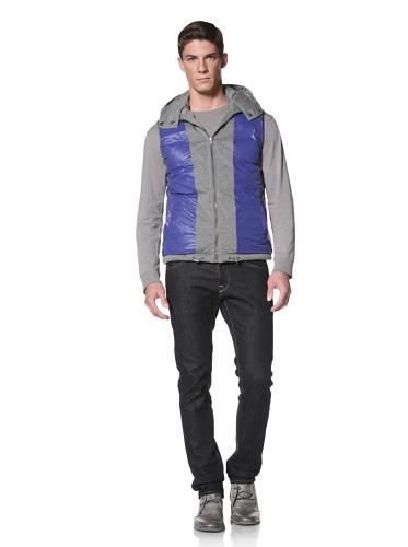LOVE Moschino Men's Reversible Down Vest (Grey/Blue)